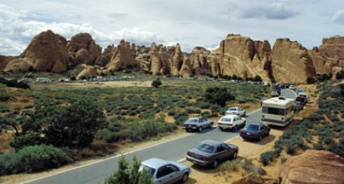 Traffic Congestion Arches NP