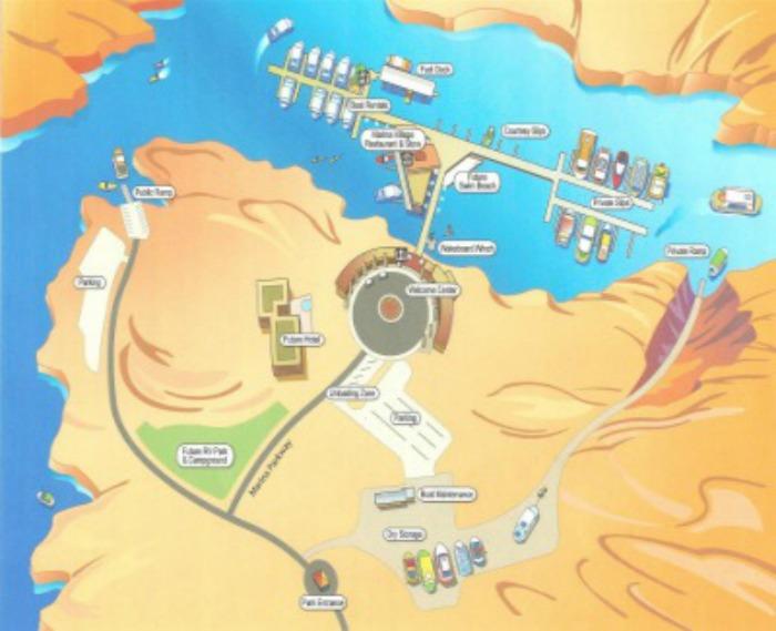 Antelope Point Marina Site Map