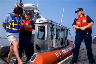 Drunk Boater Arrested by Coast Guard