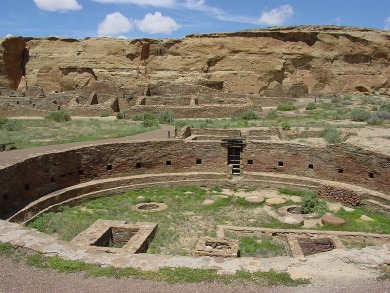 Chaco Canyon Chetro Ketl Great Kiva Plaza