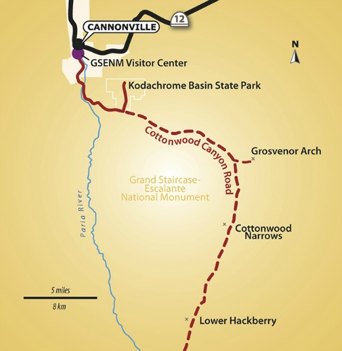 Kodachrome Basin State Park  Area Map