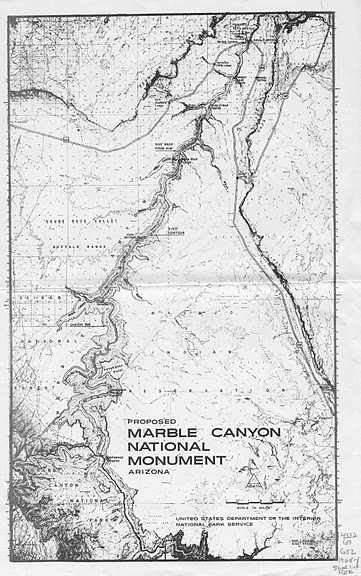 Marble Canyon NM Map