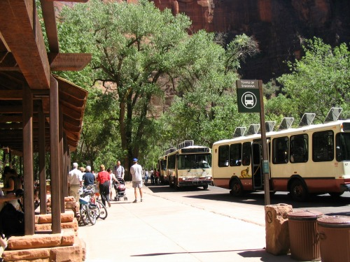 Zion National Park Sjhuttle Buses