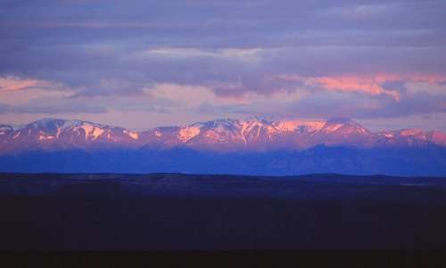 Snow-capped Mountains -  Canyonlands NP