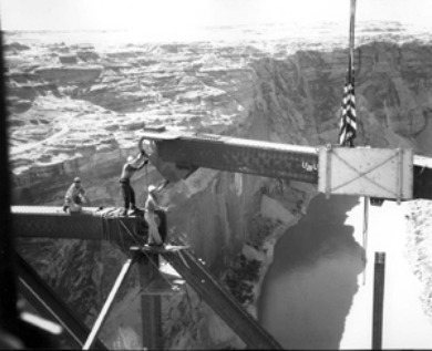 Glen Canyon Bridge Under Construction