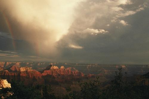Rainbow Over North Rim - Grand Canyon National Park