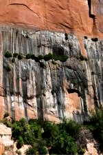 Hanging-Gardens Near-Glen-  Canyon-Dam-and-Bridge